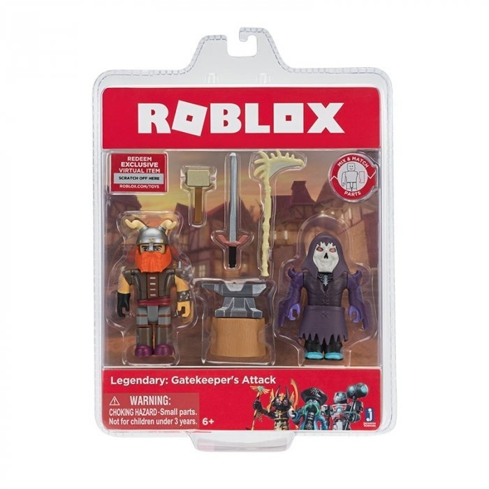 Набор из 2 фигурок Roblox Jazwares Legendary: Gatekeepers Attack Роблокс Легенда: Атака Гейтикипера ROB0206